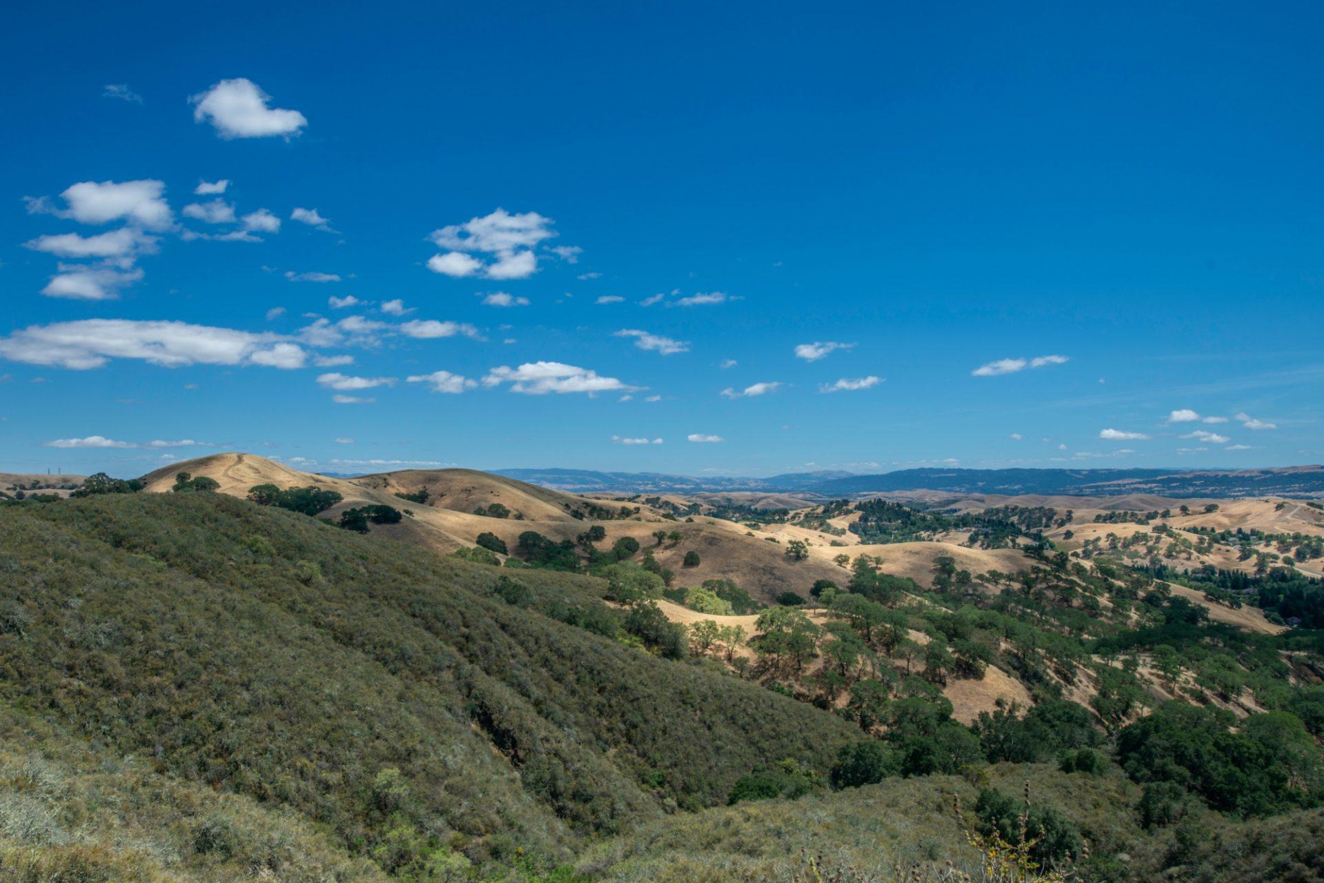 View from Mt Diablo, California.