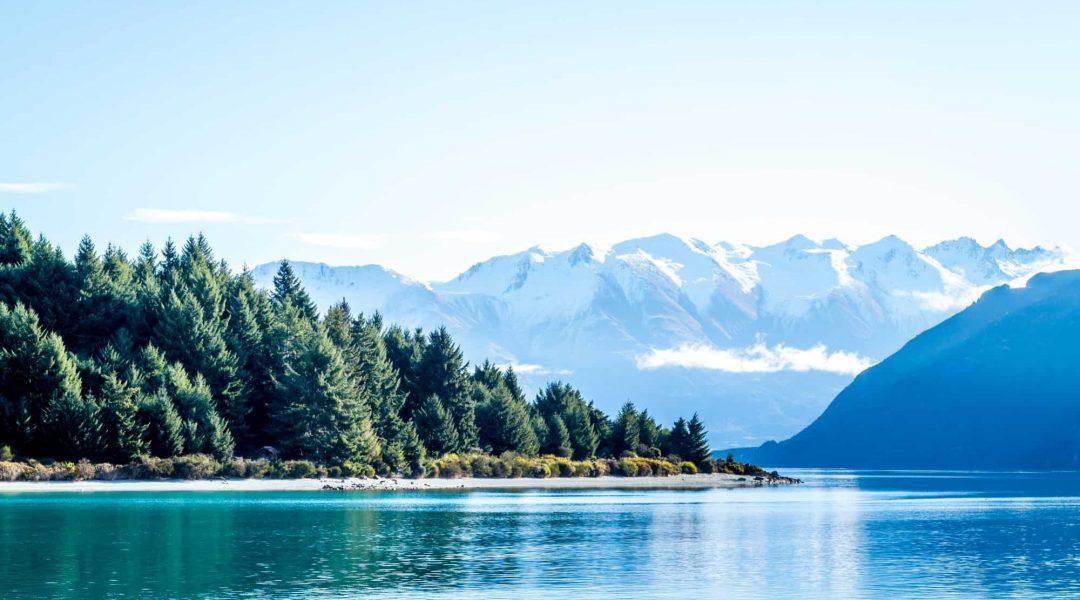 Beautiful mountain lake scene